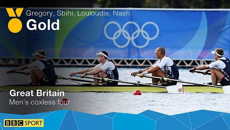 Another gold for Team GB at Lagoa! The men's coxless fours win gold for the fifth Olympics Games in a row! #TeamGB #Rio2016