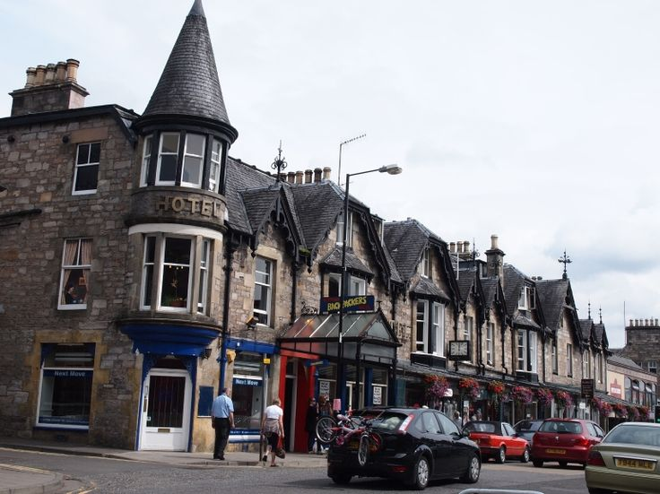 SCOTLAND - PITLOCHRY where stands the Blair Atholl - the Bells whisky distillery
