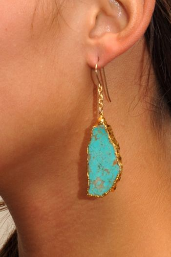 Tiger-Lily-jewelry-Double-Chain-Turquoise-Earring ♥ these