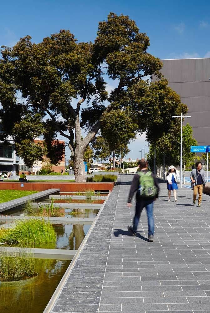 University landscapes are being reinvented. Once defined by the mediative calm of the cloister, they are now seeking new ways to engage in the life of the city. In an age of online and off campus l..