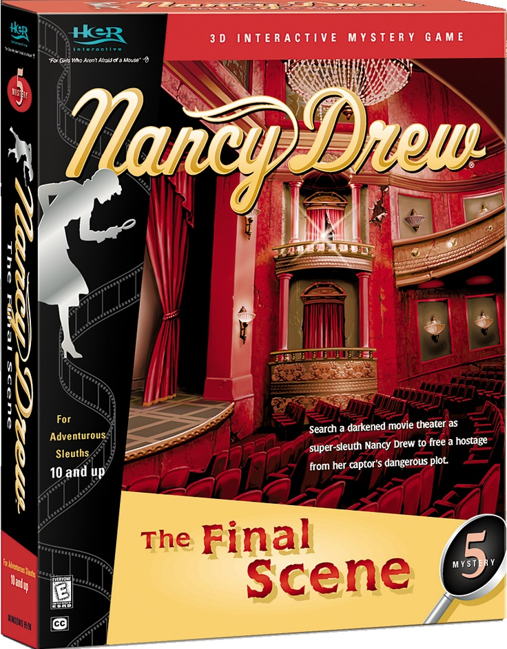 Nancy Drew: The Final Scene computer game. Search a Darkened Movie Theater to Free a Hostage from her Captor's Dangerous Plot! http://www.herinteractive.com/Mystery_Games/Nancy_Drew/The_Final_Scene/pc