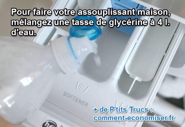 Vous adorez avoir un linge propre, frais et doux ? Mais vous ne faîtes pas confiance aux assouplissants du commerce ? C'est vrai qu'ils sont pleins de produits chimiques. Pourquoi ne pas fabriquer vous-même votre propre assouplissant ? C'est très facile et tellement économique. Découvrez l'astuce ici : http://www.comment-economiser.fr/assouplissant-maison-a-faire-soi-meme.html?utm_content=buffercba6f&utm_medium=social&utm_source=pinterest.com&utm_campaign=buffer