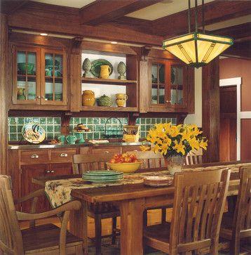 craftsman remodel new build dining room visbeen associates inc - Craftsman Dining Room Lighting