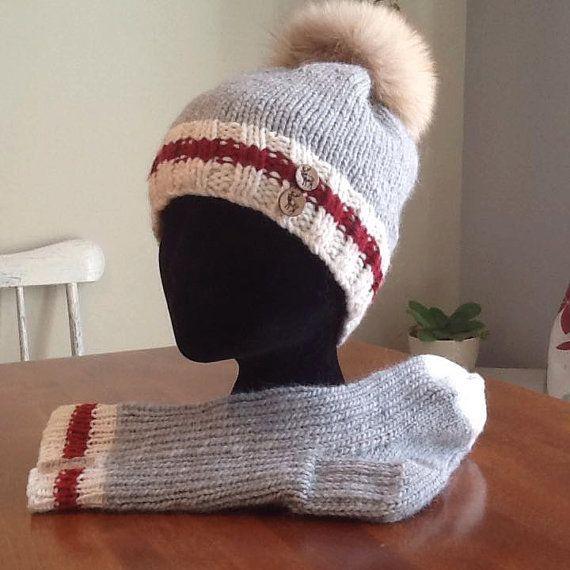 Ensemble Coralie Bonnet et/ou bas de laine par FossetteTricot