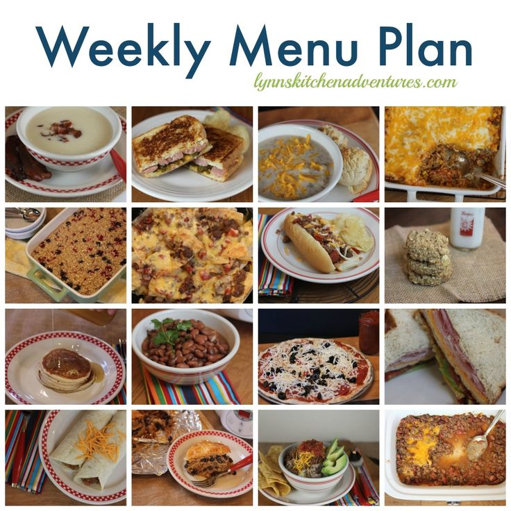 Menu Plan {Banana Pancakes, Homemade Breakfast Bowls, Mexican Pork Chops, and more}