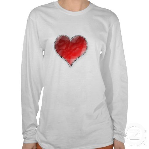 Crystal Heart Tee Shirt $24.30 #heart #love #valentines