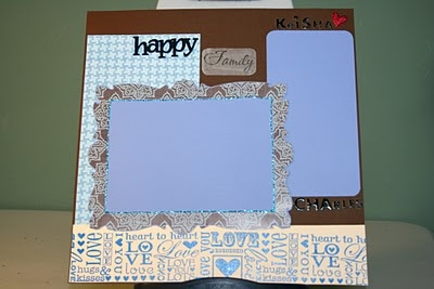 happy couple scrapbook page