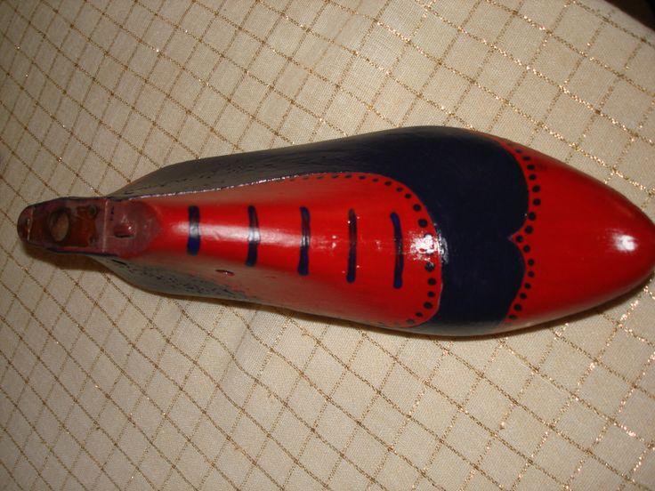Old wooden shoe form.