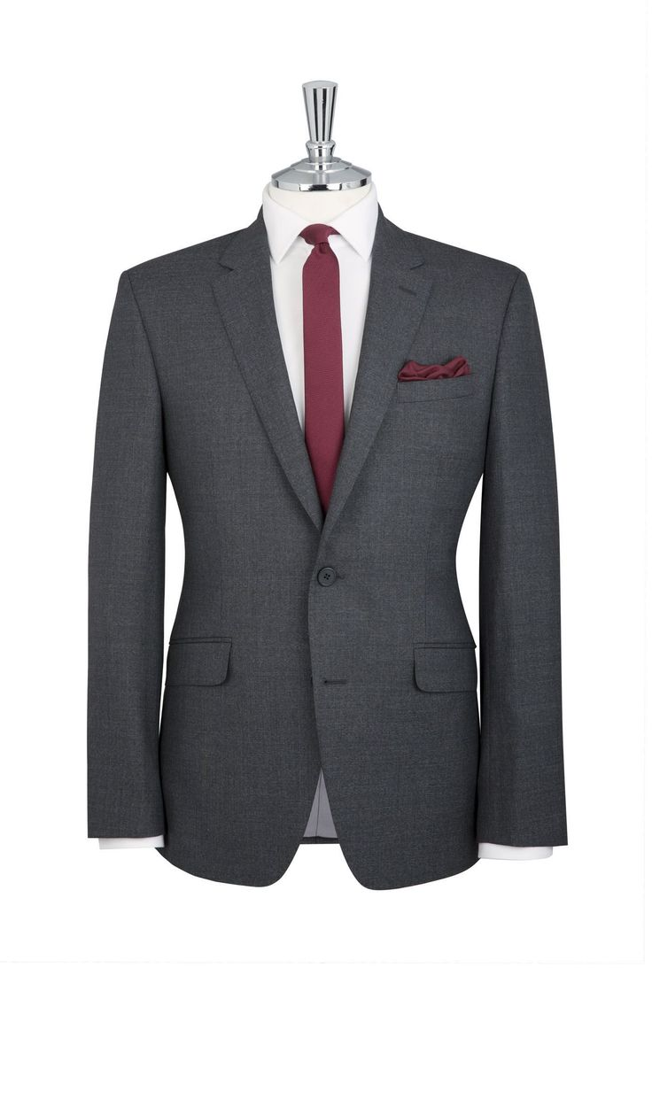 Dryden Grey Sharkskin 2-Button Slim Fit Suit   T.M.Lewin