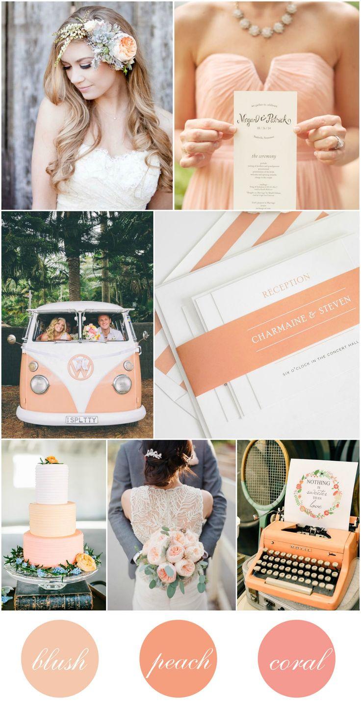 Peach Blush Coral Wedding Inspiration from @shinewedding