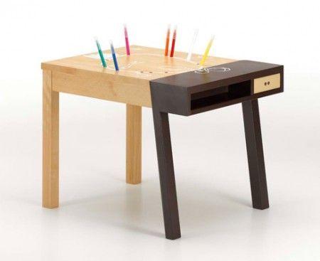 Vitra tavoli, Porcupine Desk la scrivania porcospino per bambini