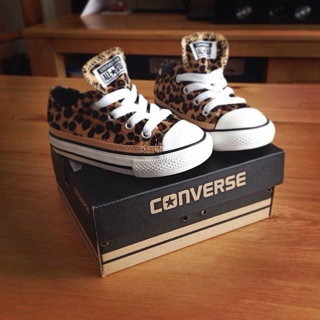 Leopard print chucks for the little lady.