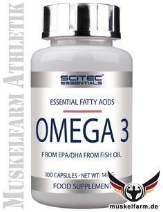 Scitec Nutrition Omega 3 Softgel-Kapseln mit hochwertigem Fisch-Öl, enthält wertvolle Omega-3 Fettsäuren, für Herz, Gehirnfunktion und Sehkraft.