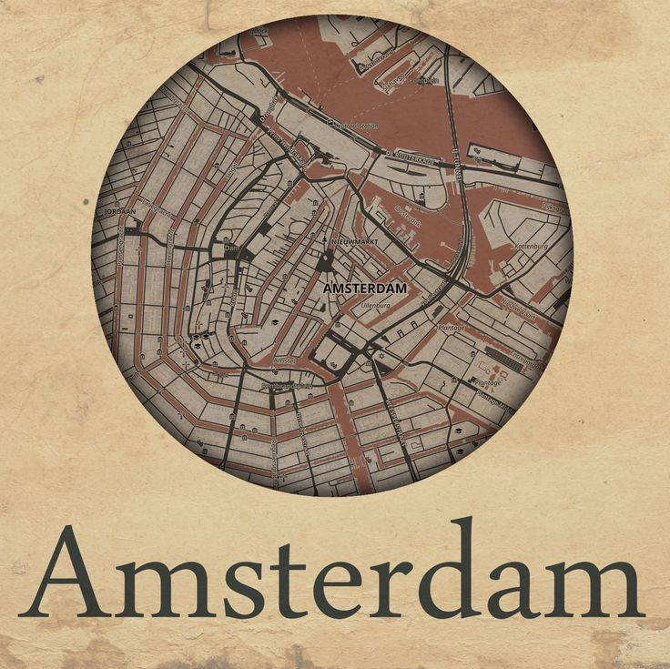 Cities edition - Amsterdam by mapshakers.com