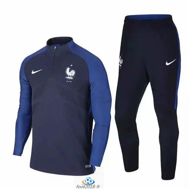 Official Le Nouveau Survetement de foot France Bleu Marine 2016 2017