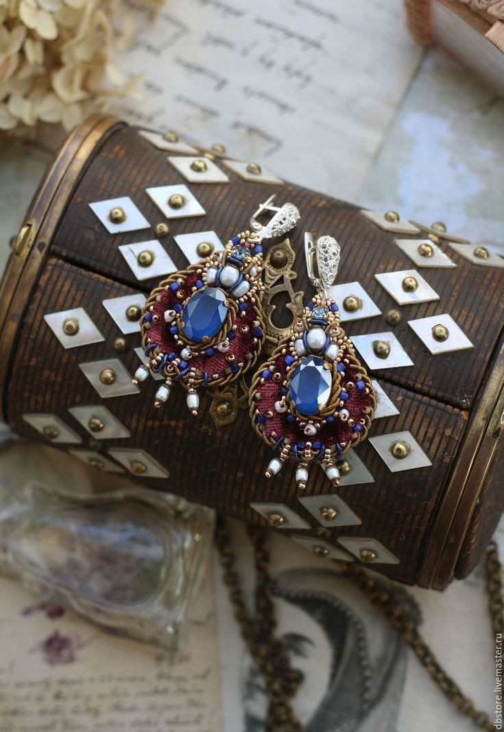 Купить Серьги в восточном стиле - вышивка ручная, восточный стиль, серьги праздничные, комбинированный