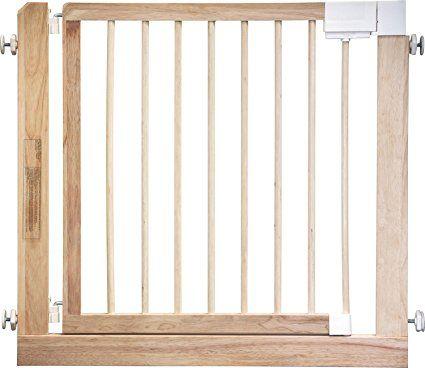 40euros - IB-Style - Barriere de sécurité des escaliers et des portes KOLBY | 3 tailles | 86 - 92 cm | a bois massif - nature