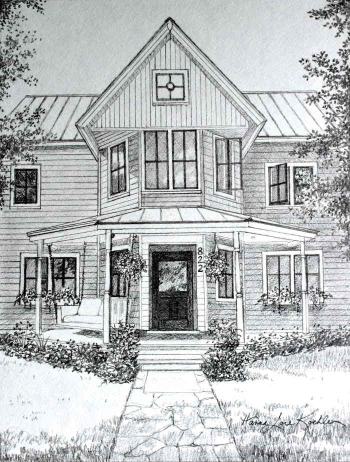 House Pencil Sketch : house, pencil, sketch, House, Portrait, Pencil, Sketch, Drawing, Painting,, Sketches,, Portraits