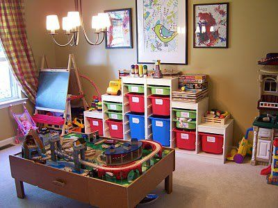 Living Room Playroom Office Combo