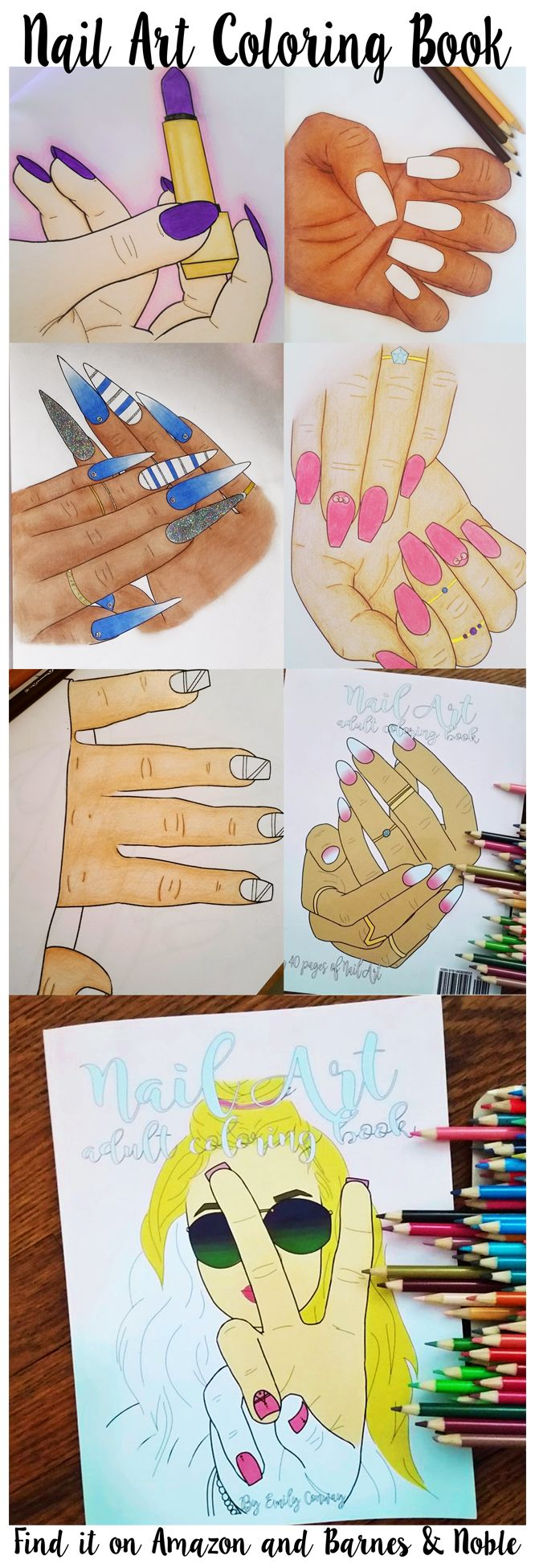 19 Best Nail Art Adult Coloring Book Images On Pinterest