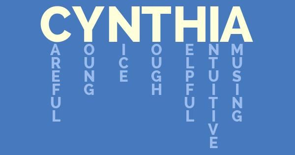 What Does Cynthia Mean?