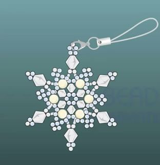 Free Beading Tutorial - Beadanimation How to make a beaded snowflake featured in Bead-Patterns.com Newsletter!