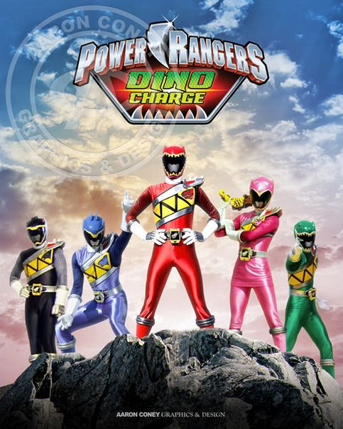 8 x 10 glossy print of the Mighty Morphin' Power Rangers.