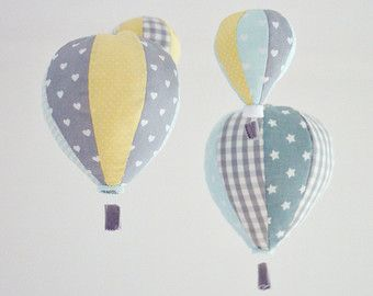 Hot Air Balloon Nursery Decor Baby Mobile by sunshineandvodka