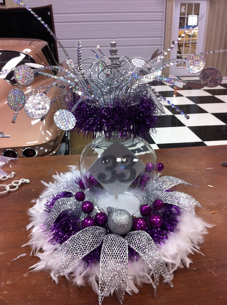 centerpiece designed by me for the King of a Mardi Gras Krewe | creations by me | Pinterest ...