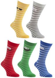 F&F 5 Pair Pack of Striped Socks