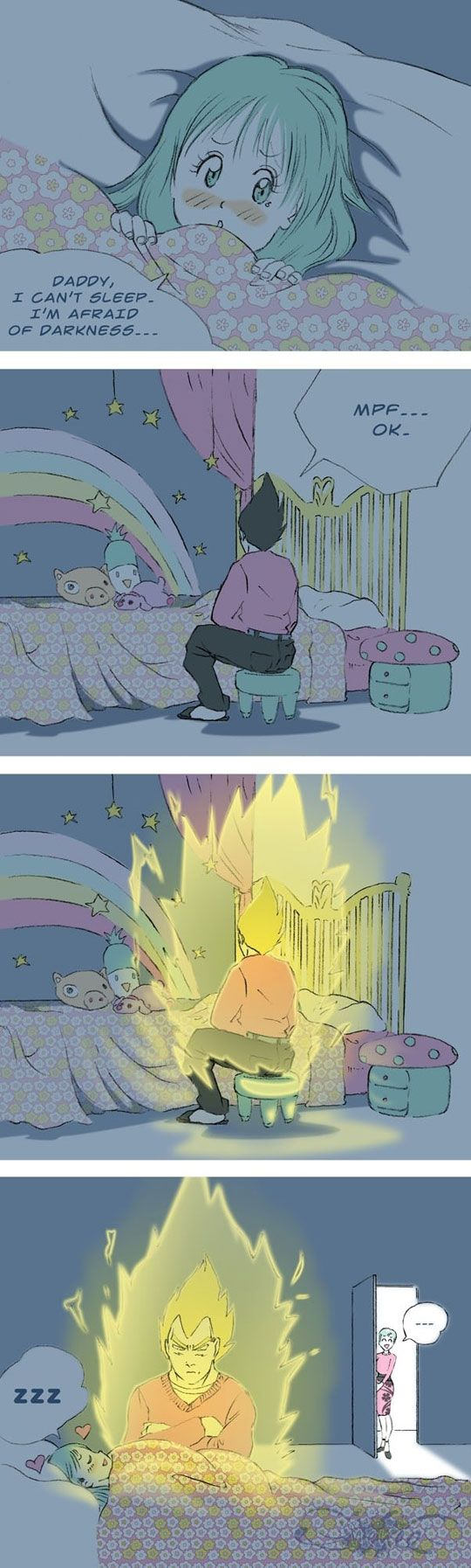 OH BOY. Vegetas gonna be a good father for once!