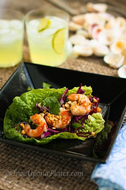 #hcg Sweet & Spicy Asian-Style Shrimp and Lettuce Wrap-Ups... without the peanuts it can work for HCG P2 :)