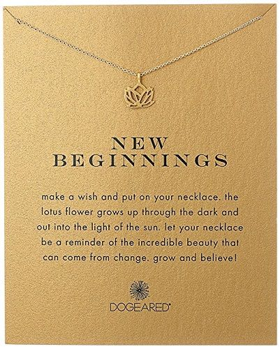 New Beginnings Lotus Necklace - High School Graduation Gifts for Her (suitable for daughter, sister, best friend)
