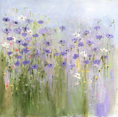"""April morning"" by Sue Fenlon (currently lives in Northumberland on the border of  England and Scotland where she draws much of her inspiration from her surroundings)"