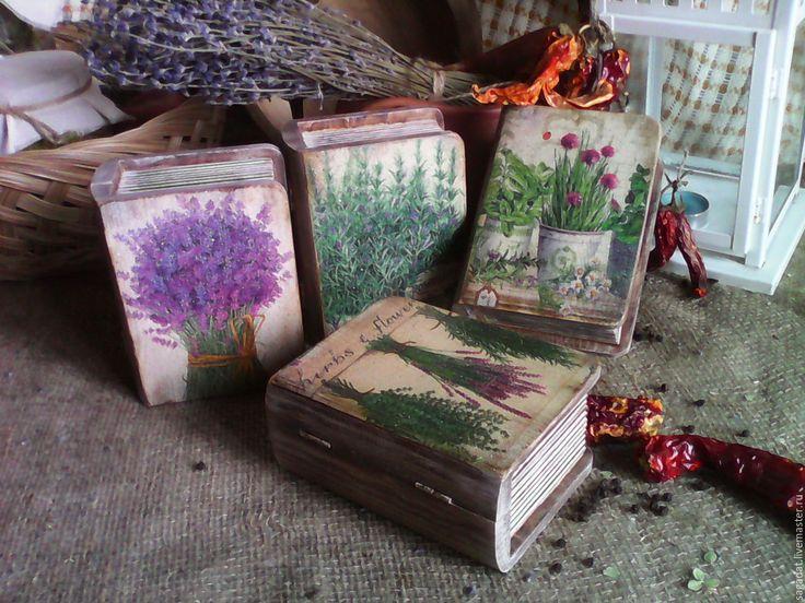 Купить Коробочки для специй ,,Все ароматы Прованса,, - коробки, коробки для хранения, для специй, хранение в кухне