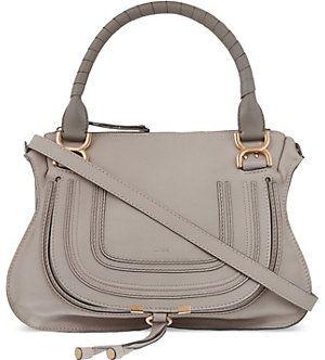 CHLOE Marcie medium leather cross-body bag (Motty grey