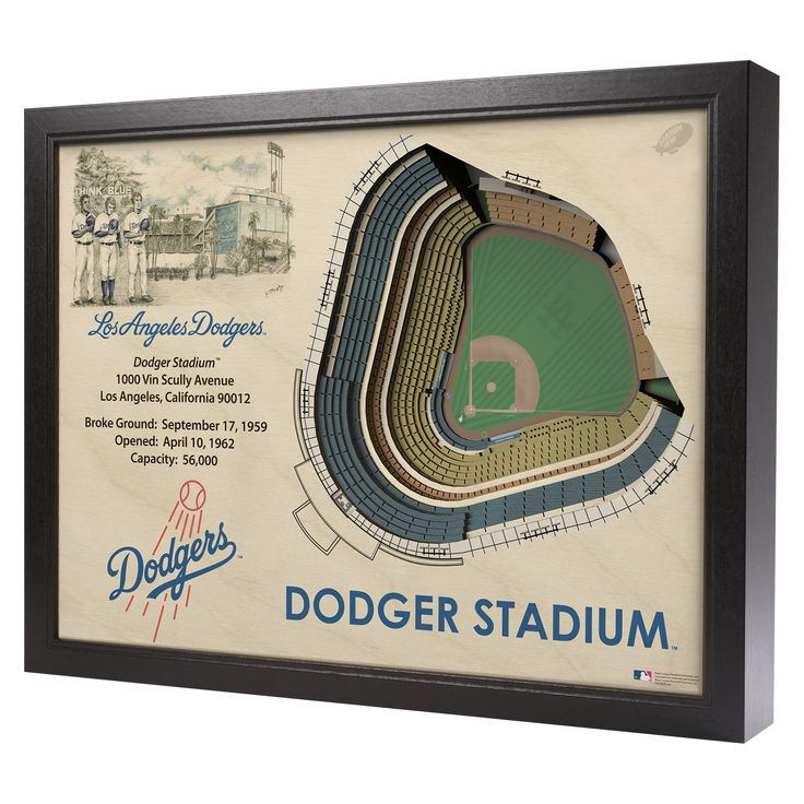 MLB Los Angeles Dodgers Stadium Views Wall Art - Dodger Stadium