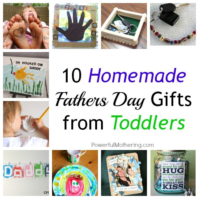 10 homemade fathers day gifts from toddlers homemade