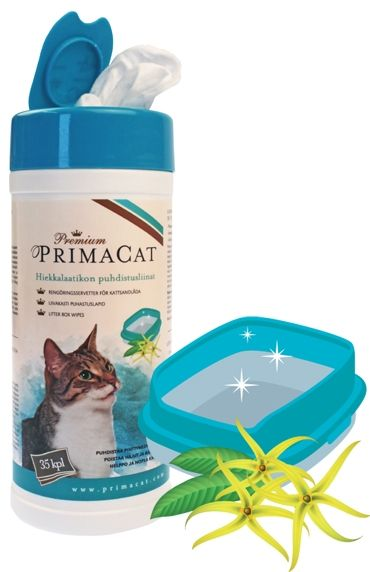Premium PrimaCat hiekkalaatikon puhdistusliinat - PetNetstore 4,90€