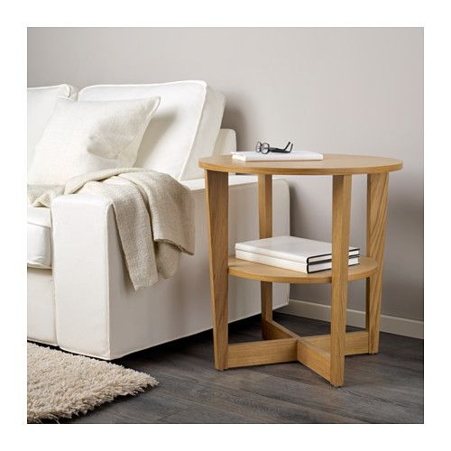 IKEA VEJMON side table The veneered surface is durable, stain resistant and easy to keep clean.