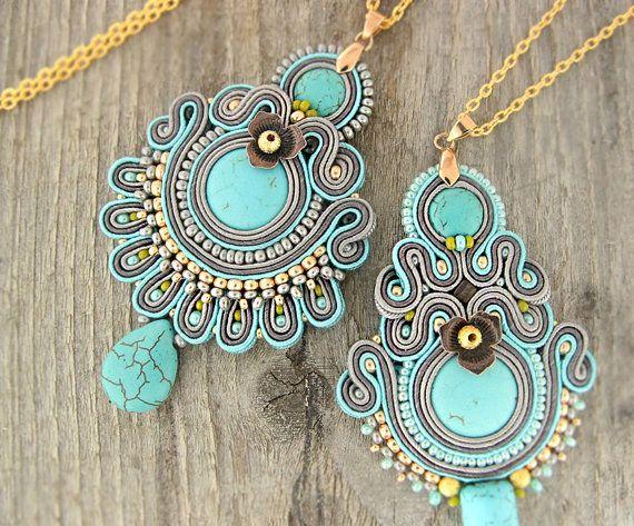 New boho style turquoise pendants :)