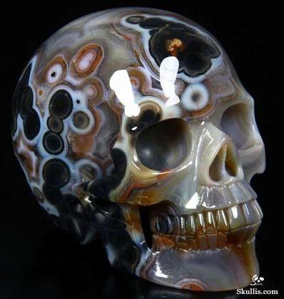 Agate Crystal Skull  (1)