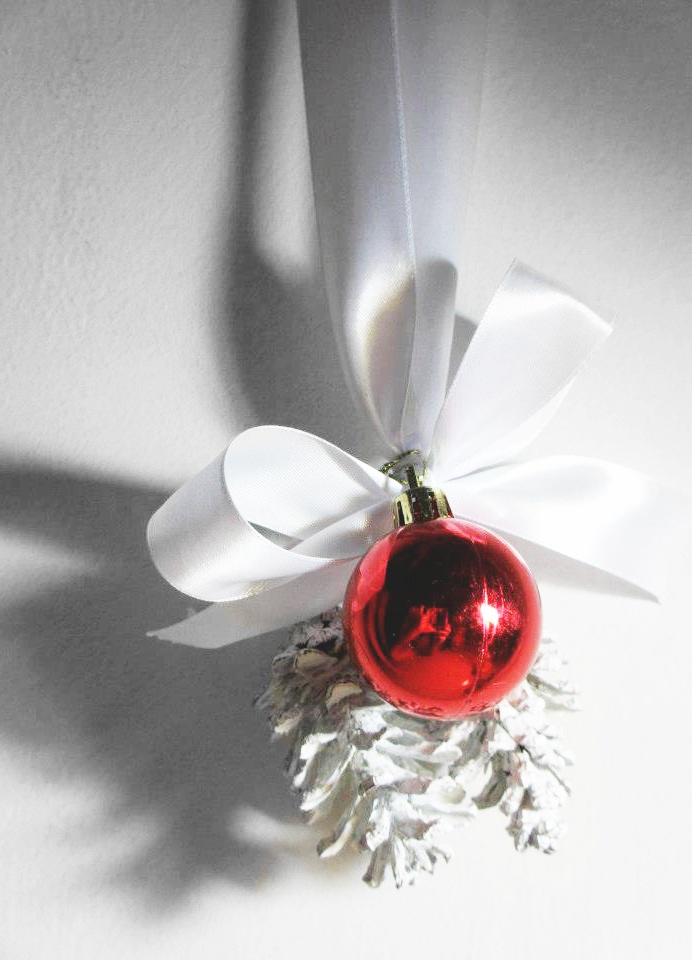 Pine cone craft for Christmas - decoration for St. Monika Catholic Church