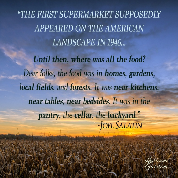 Joel Salatin on Supermarkets