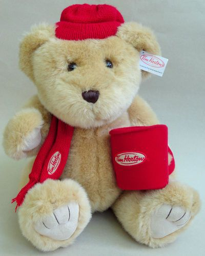Tim Horton's (Coffee Shop) Plush Timmy's Teddy Bear Advertising Collectible. I would love to find one of these Bears!