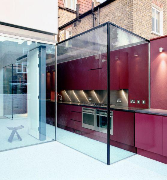 Kitchen meets exterior work area