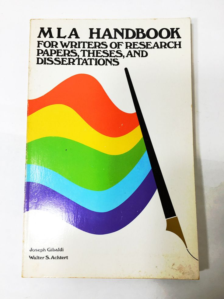 handbook for writers of research papers theses and dissertations Find great deals for mla handbook for writers of research papers, theses and dissertations by walter s achtert and joseph gibaldi (1977, paperback) shop with.