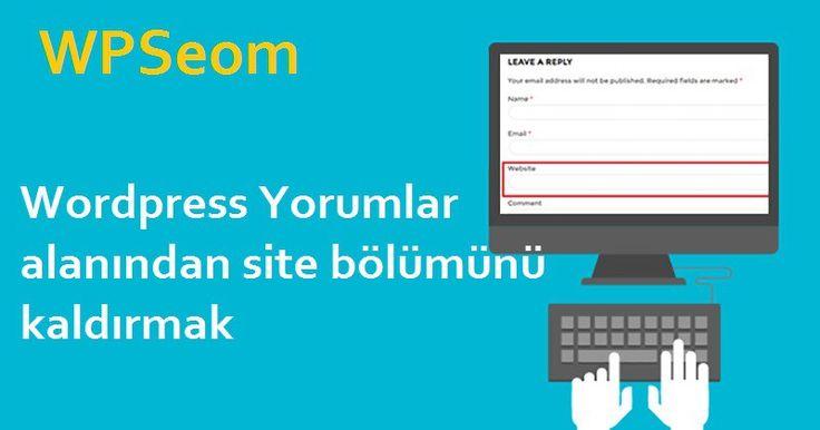 Wordpress Yorumlar alanından site bölümünü kaldırmak