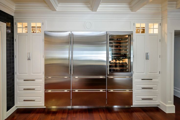 Leslie Ann Interior Design - kitchens - subzero, subzero fridge, subzero refrigerator, integrated refrigerator, integrated freezer drawers, ...
