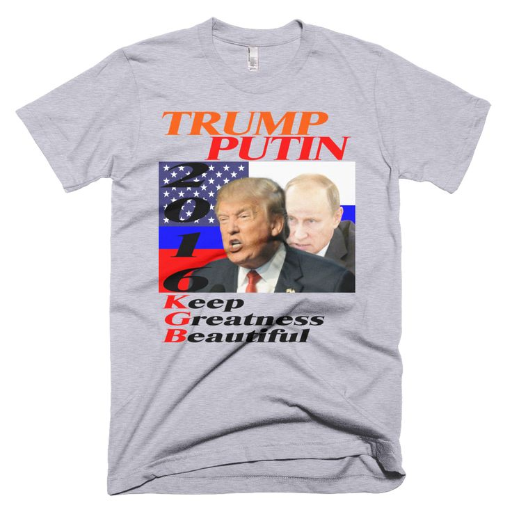 Trump - Putin 2016: The Real Election Winners on a Short Sleeve Men's T-shirt